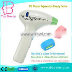 OEM Home use IPL permanent hair removal beauty machine with replaceable 3 lamp