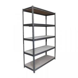 Light industrial racking slot angle shelf galvanized rivet shelving