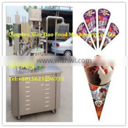 automatic rotary ice cream cone Filling machine/cup ice cream filling machine/+8615621096735/skype:sara.xiaodao Quality Choice