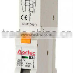 AUB7R with Semko certificate electrical RCBO 30mA 16A