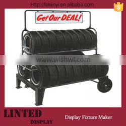 Special design stainless steel tire display rack