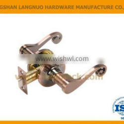 High quality tubular entrance door lever handle privacy lock
