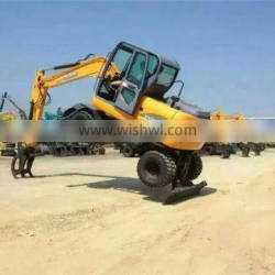 Hot Sale Cheap Mini Small Digger Wheel Excavator For Sale Made In China