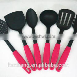 6pcs silicone non-stick cookware set pink cookware sets