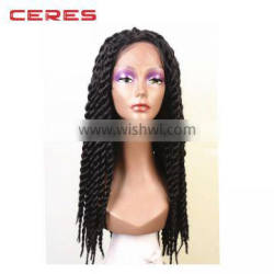 In Stock Top Quality African Braided Wigs Fashionable Kinky Twist Braided Lace Wig For Black Women