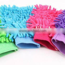 Microfiber cleaning glove for kitchen / Household /Car , Window wash Microfiber dusting gloves for car washing sponge ,Wash