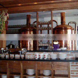 Restaurant ,Home brewery for brewing, Draught beer brewing equipment , complete brewing system, brewery plant