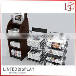 Nice looking floor stand small newspaper display stand