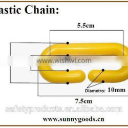 high quality 10mm yellow PE plastic chain