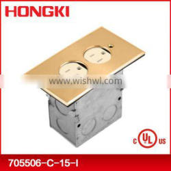 USA standard duplex recessed Floor box with receptacle