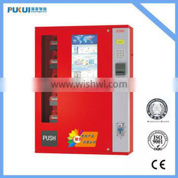 5 shelves hung snack vending machine with spiral vending system