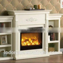 Q-01metal english style fireplace with remote control