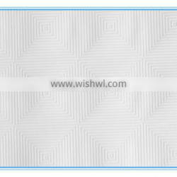 factory offer decorative various white embossed PVC film for gypsum board