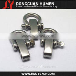 Jinyu 4mm shackle clasp,stainless steel adjustable shackle clasp for paracord bracelet