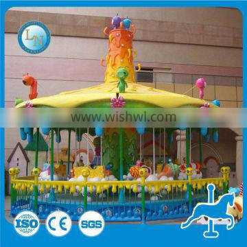 Indoor carousel ride!!! Attractive amusement theme park kids carousel ride honey tree for sale