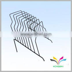 High Quality Hangzhou Factory Counter metal wire display cd dvd light duty movable book shelf