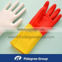 spray lined rubber house hold gloves