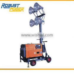 Good Quality Protable Mobile Lighting Tower Natural Engine Aspiration With Electric Starting System