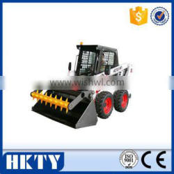 new products skid steer loader with silage loader bucket