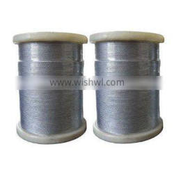 stainless,pvc coated/galvanized,ungalvanized/alloy,unalloy steel wire rope strand with hemp,cotton core or metal core