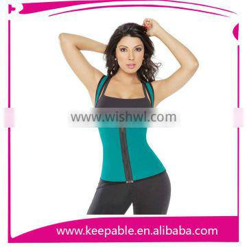 High Quality Women's Zipper Waist Trainer In Shapers With Shoulder Girdle