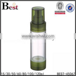 15ml 30ml 50ml airless pump 80ml high quality blue airless pump cosmetic bottle Supplier's Choice