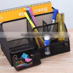 Hot Selling Multi-use Metal Mesh Desk Organizer With Multi-color