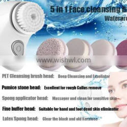5 IN 1 electric beauty machine set face pore cleanser manicure pedicure and callus remover