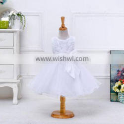 NEW model appliqued pire white lovely dress latest dress patterns for girls