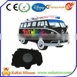 Promotion Rubber 3D Bus Soft PVC Fridge Magnets