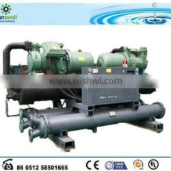 Water cooled screw chiller for industrial cooing usage