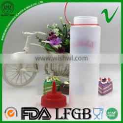 LDPE wholesale cylinder squeeze plastic honey bottle with food grade