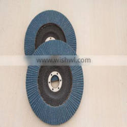 125MM Cheap Zirconia Flap Disc with fiber glass for metal grinding