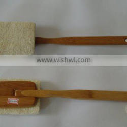 natural wooden exfoliating cleaning body brush