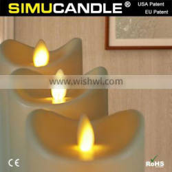 led moving flame candle with timer function and remote control