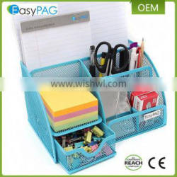 Office school supply 6 divided compartment wire mesh desktop organizer