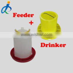 Free range chicken feeders and drinkers