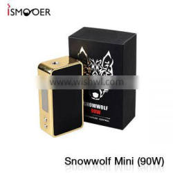 High Quality Snow Wolf 90w Box Mod with 1pcs 18650 Battery Snow Wolf Wholesale From Global Sole Agent ISMOKE LIMITED
