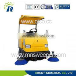 color can be customzied outdoor use riding road sweeper with power supply 36V
