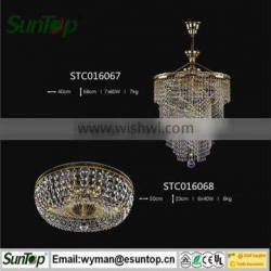 2016 home decoration egyptian crystal chandelier with Energy Saving