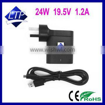 24W 19.5V 1.2A For DELL Venue 11 Pro tablet PC charger AC adapter