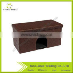 Storage Pet Bed Bench Foldable Small Dogs Cats House