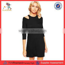 PGWC-3327 Wholesale women clothes casual dress 3/4 sleeve one-piece dress