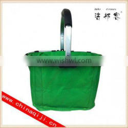 High quality shopping basket with wheels wholesale