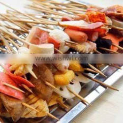 Dry Disposable Bamboo Stickes for BBQ or skewers China