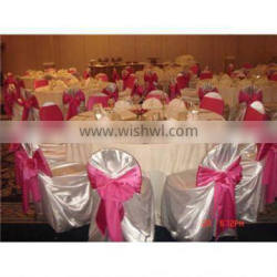 hotel universal chair cover satin self-tie chair covers for party wedding banquet