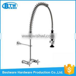 China Manufacturer Stainless Steel 304 Dual handle Wall Mounted Classic Kitchen Faucet For Commercial Use