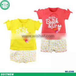 infant&toddler baby clothing sets baby girls outfits with print