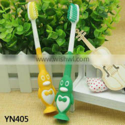 Rubber handle small head natural bristle Child toothbrush