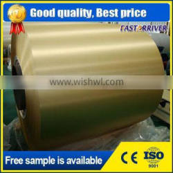 5052 color coated hairline brushed aluminum coil for exterior curtain walls